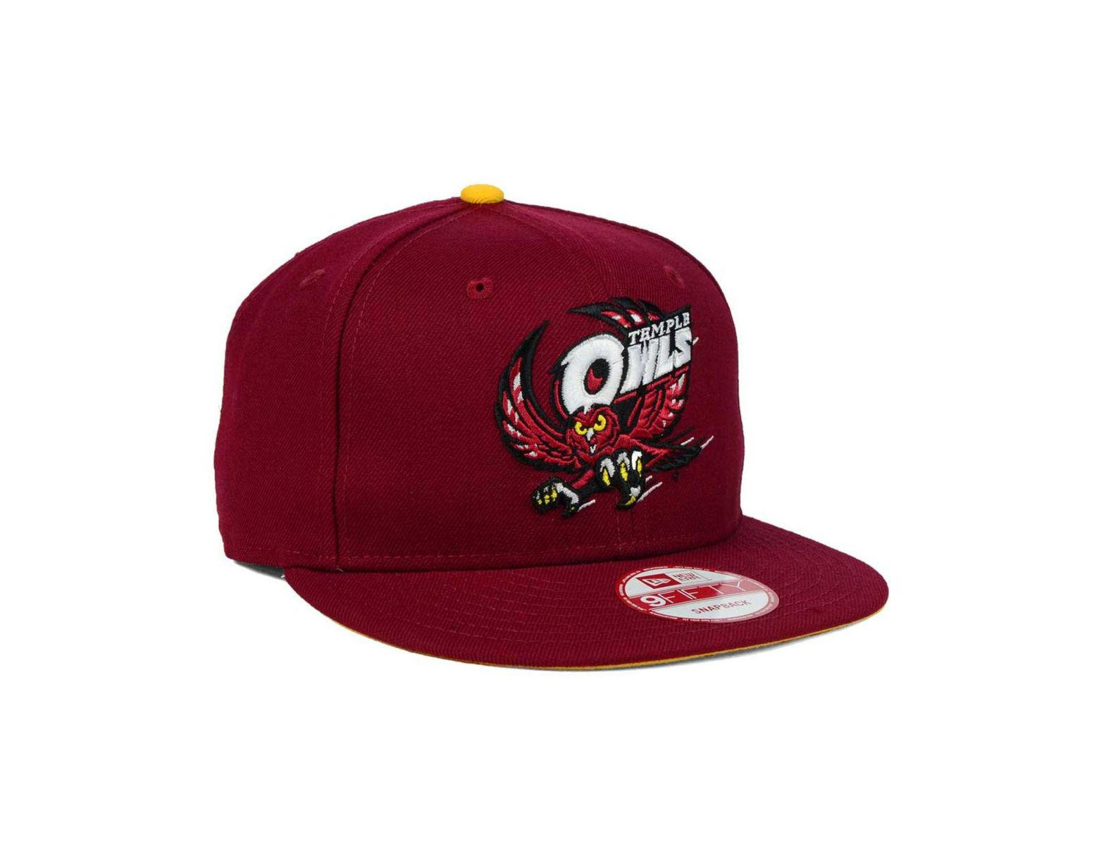 official photos e6906 7271d KTZ Temple Owls Core 9fifty Snapback Cap in Red for Men - Lyst