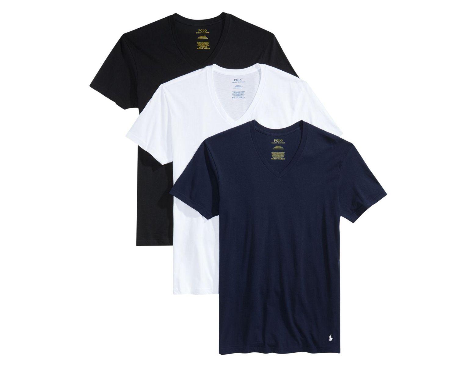 5533076d Men's Undershirt, Slim Fit Classic Cotton V-neck 3 Pack