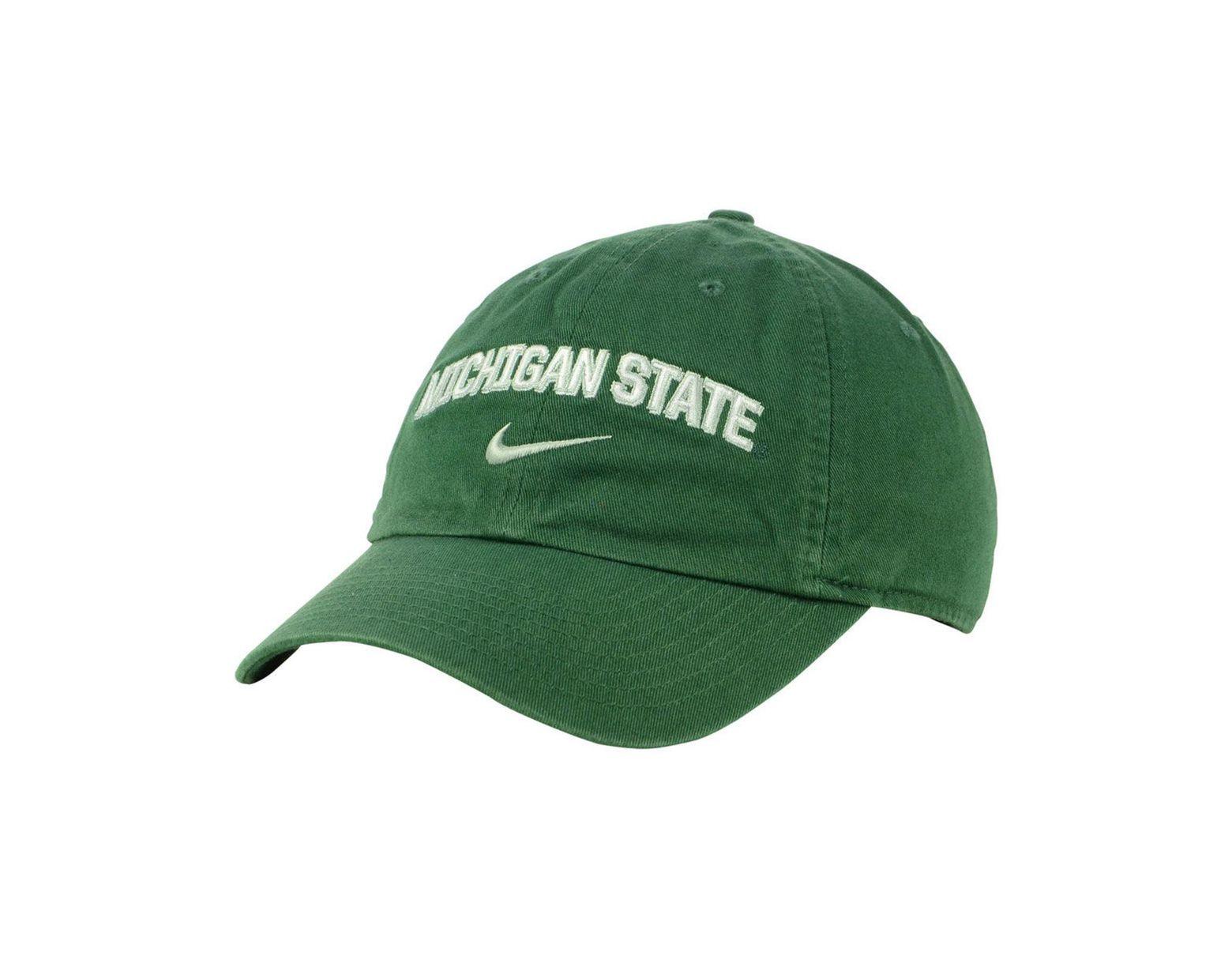 brand new 0b206 05ba3 Nike Michigan State Spartans H86 Wordmark Swoosh Cap in Green for Men - Lyst