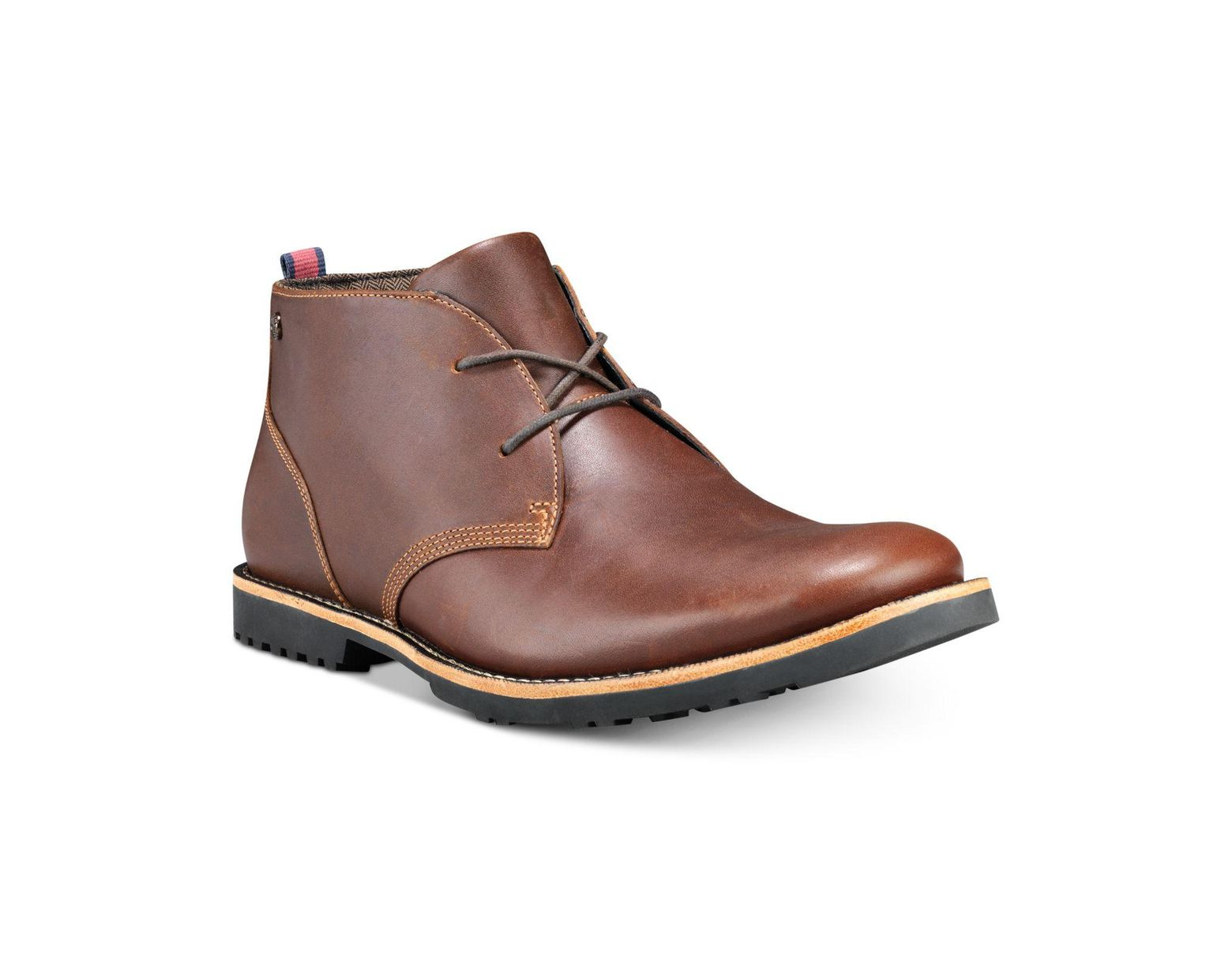 809caa65366 Men's Brown Richdale Leather Chukka Boots, Created For Macy's