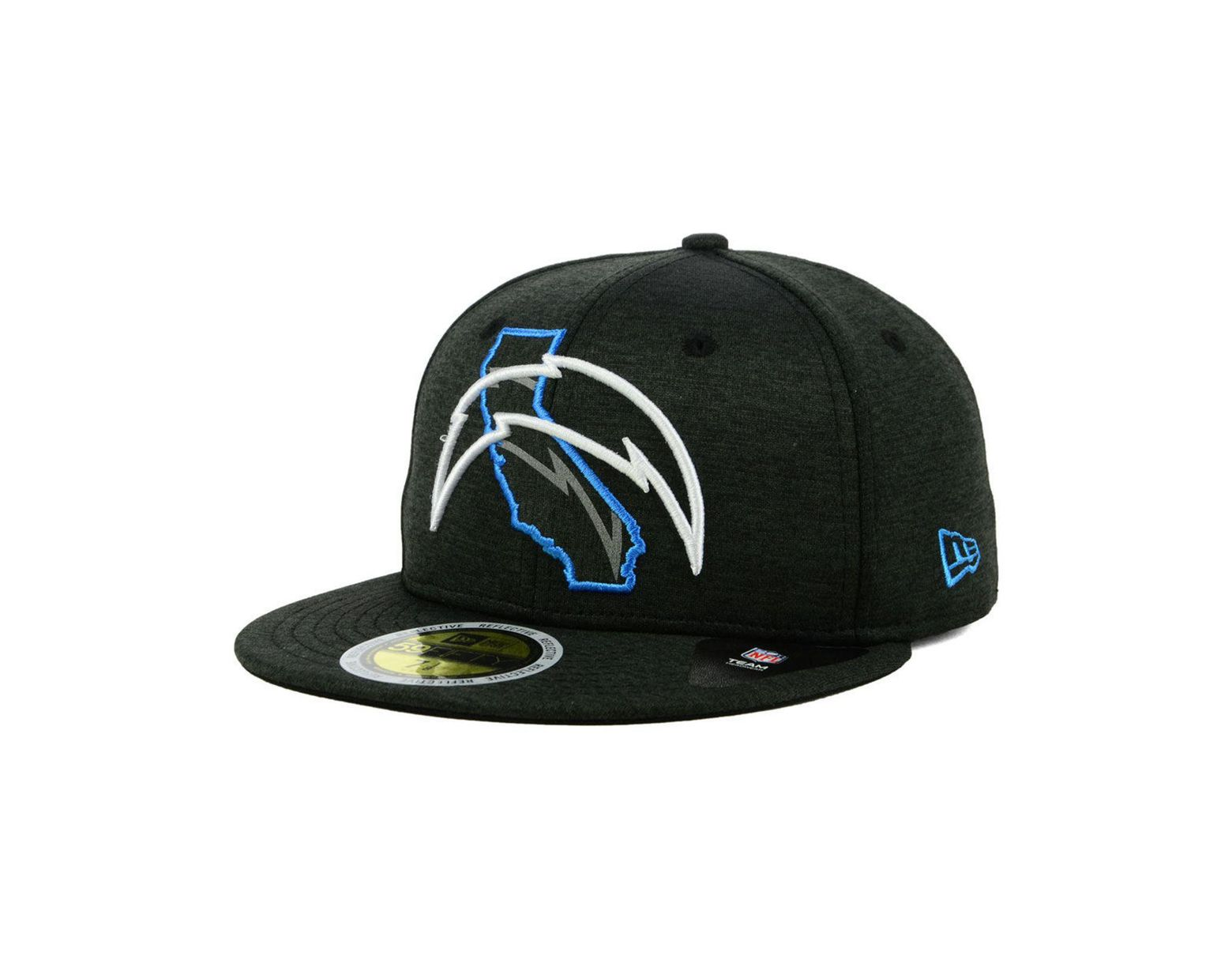 024553a11 Men's Los Angeles Chargers State Flag Reflective 59fifty Fitted Cap