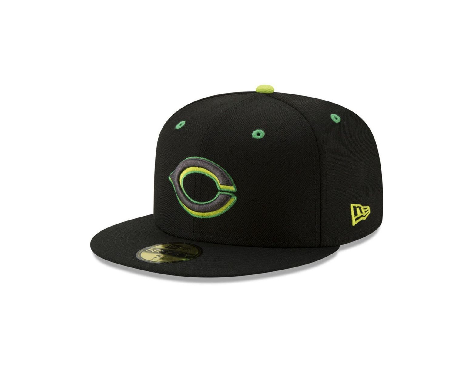 newest 5386c 5d71c KTZ Cincinnati Reds Night Moves 59fifty Fitted Cap in Black for Men - Lyst
