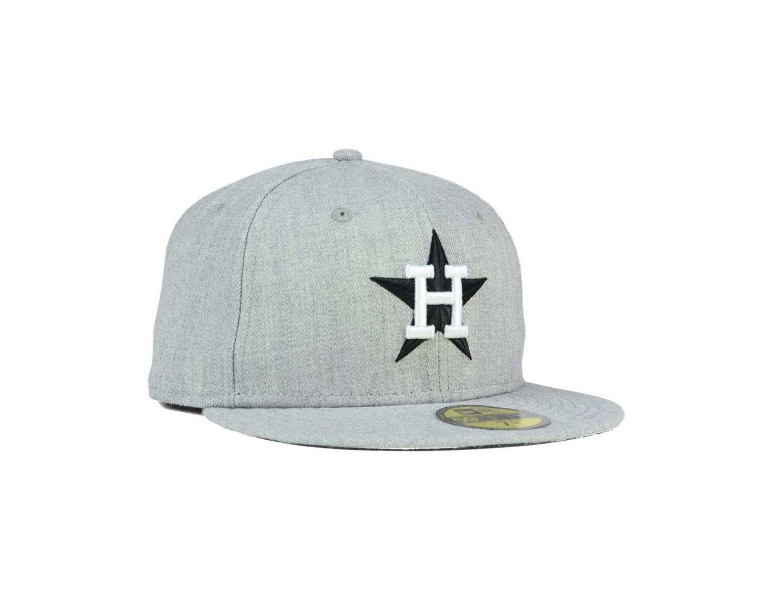 best sneakers 2a62a afebd KTZ Houston Astros Heather Black White 59fifty Cap in Gray for Men - Lyst