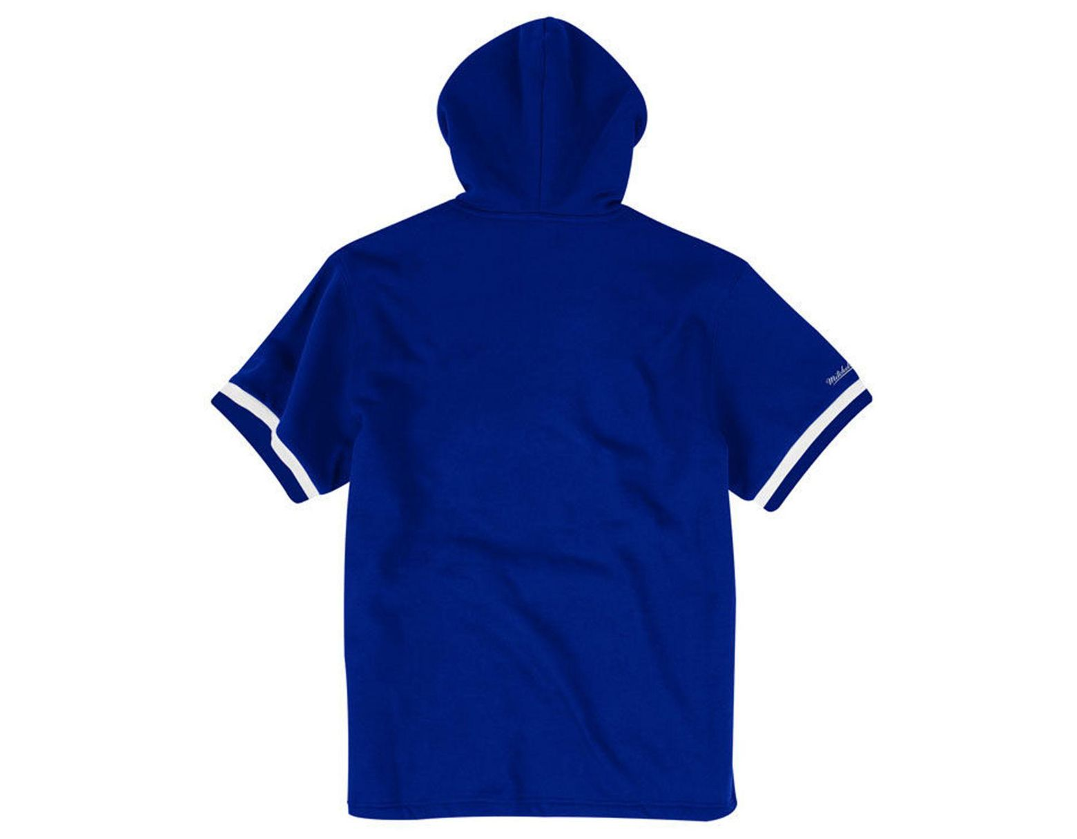 d5586fe4 Men's Blue Los Angeles Dodgers French Terry Short Sleeve Hoodie