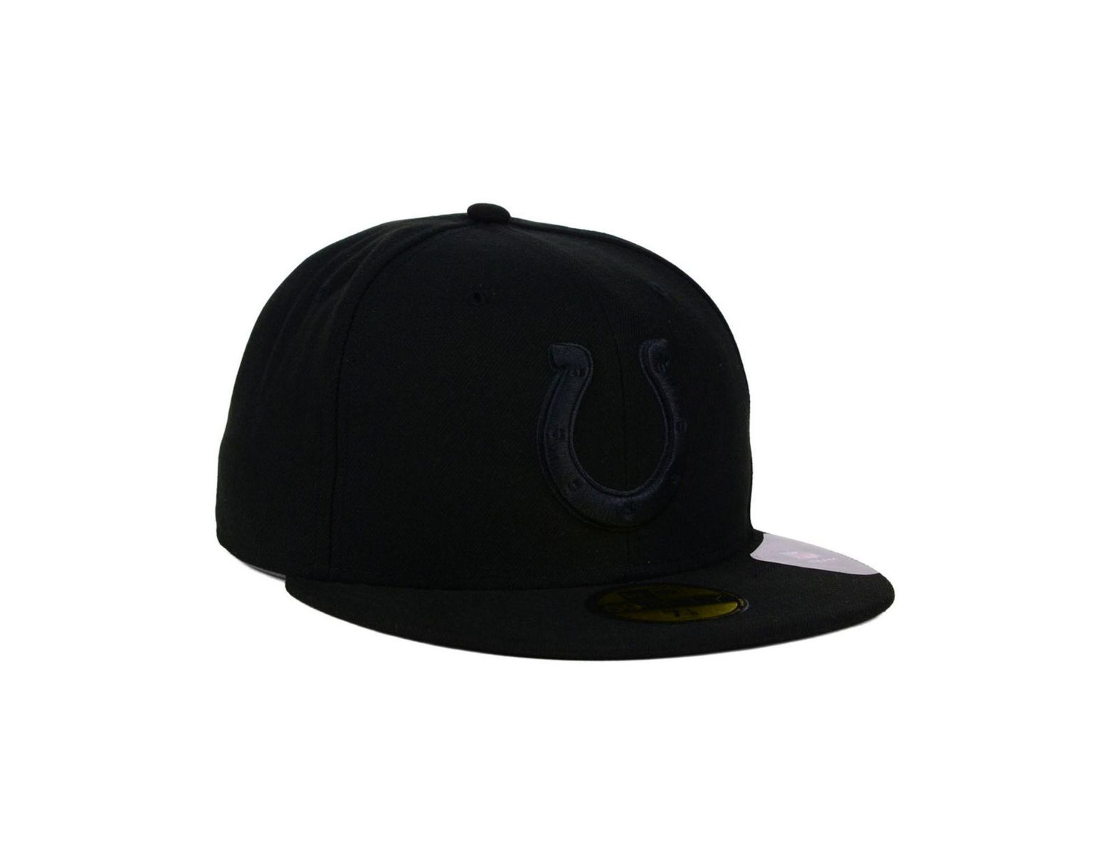 size 40 55455 9838a KTZ Indianapolis Colts Black On Black 59fifty Cap in Black for Men - Lyst
