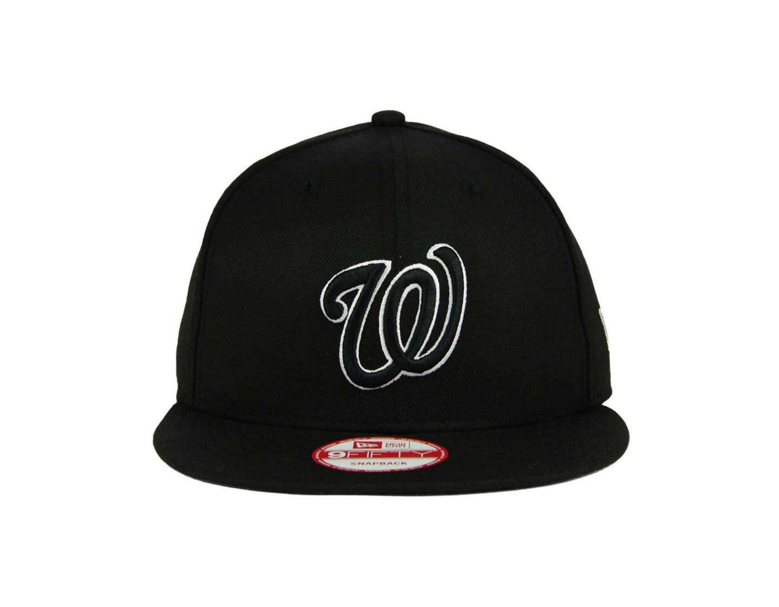 new products 596e9 6295a KTZ Washington Nationals B-dub 9fifty Snapback Cap in Black for Men - Lyst