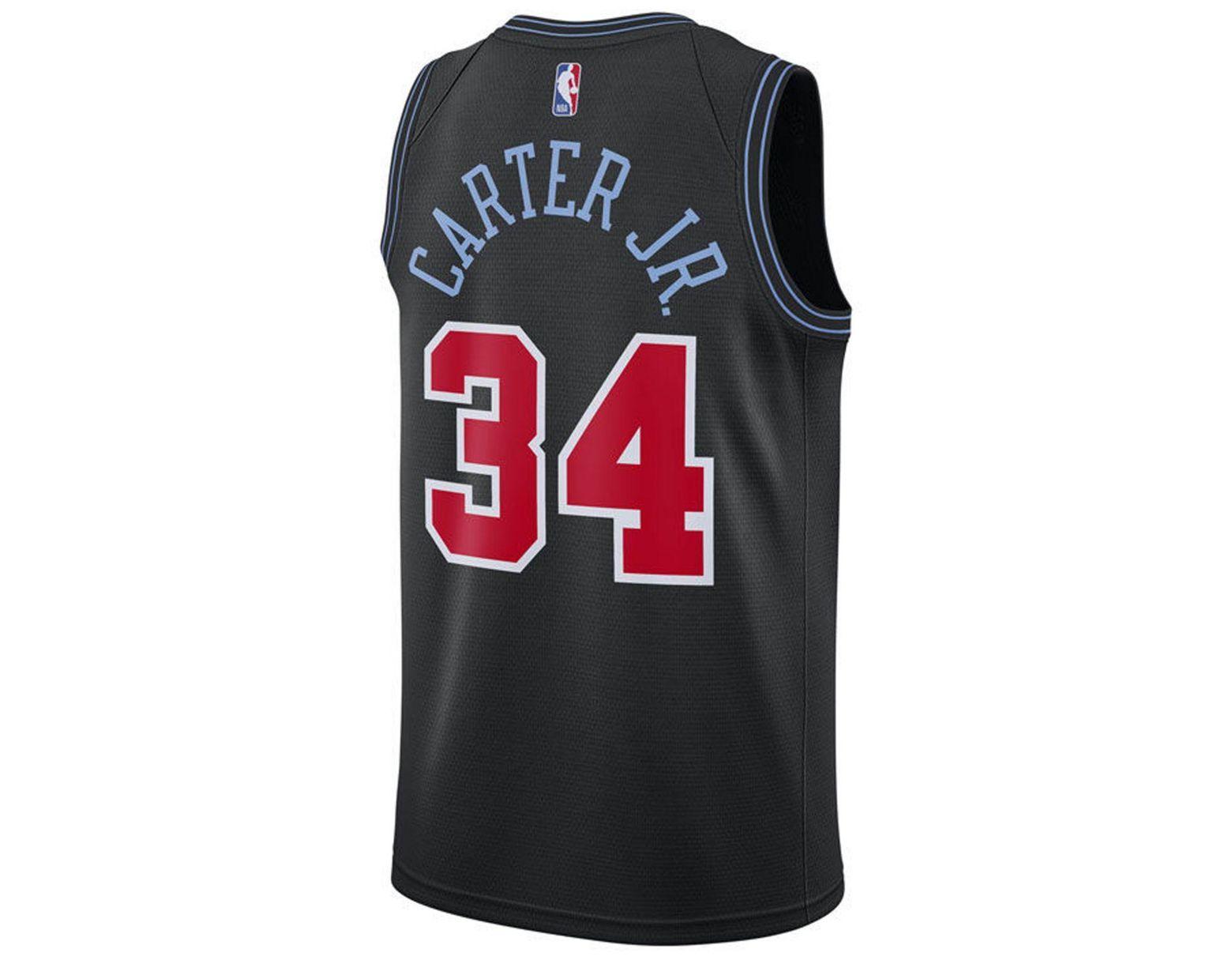 793f33320e2 Nike Wendell Carter Jr. Chicago Bulls City Swingman Jersey 2018 in Black  for Men - Save 27% - Lyst