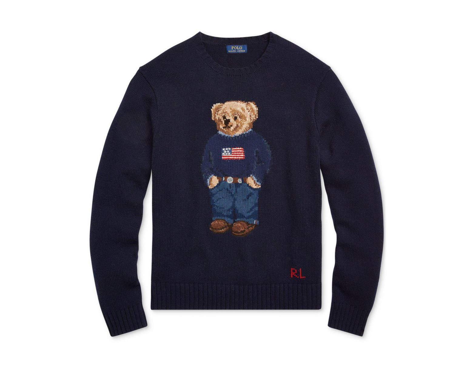 b075d5ee5 Polo Ralph Lauren Men s Iconic Polo Bear Sweater in Blue for Men - Save 40%  - Lyst