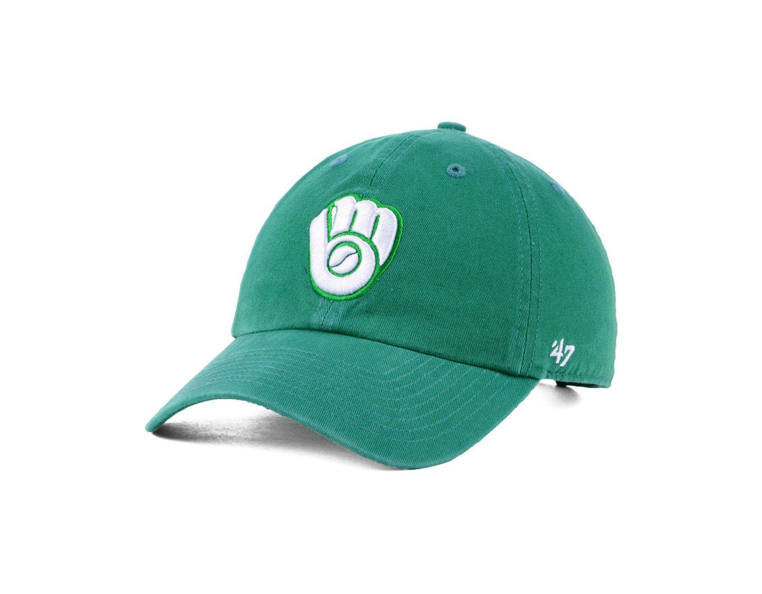 on sale 24639 8db95 47 Brand Milwaukee Brewers Kelly White Clean Up Cap in Green for Men - Lyst