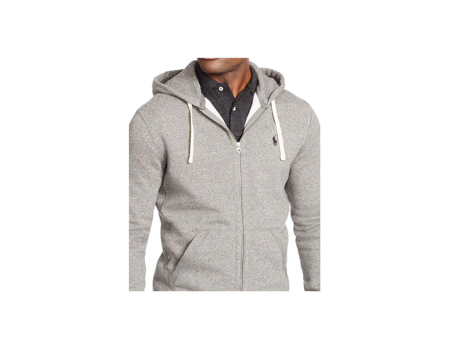 HoodieFull Men's Zip Black Hooded Fleece XkuOPZiTwl