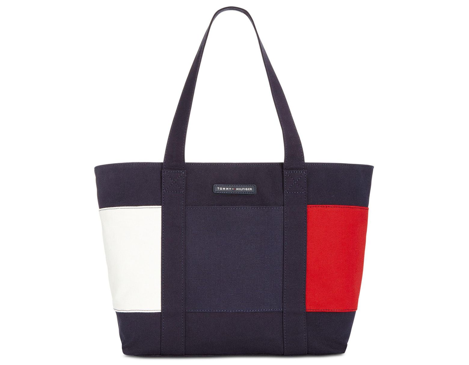 c613fb2ba Tommy Hilfiger Flag Tote in Blue - Save 26% - Lyst