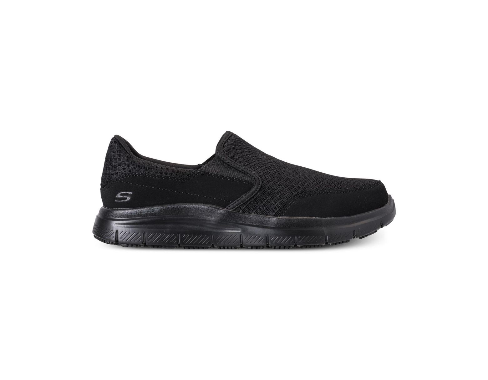 3187ab21a0a Men's Black Work Relaxed Fit: Flex Advantage - Mcallen Sr Slip Resistant  Wide Width Casual Sneakers From Finish Line