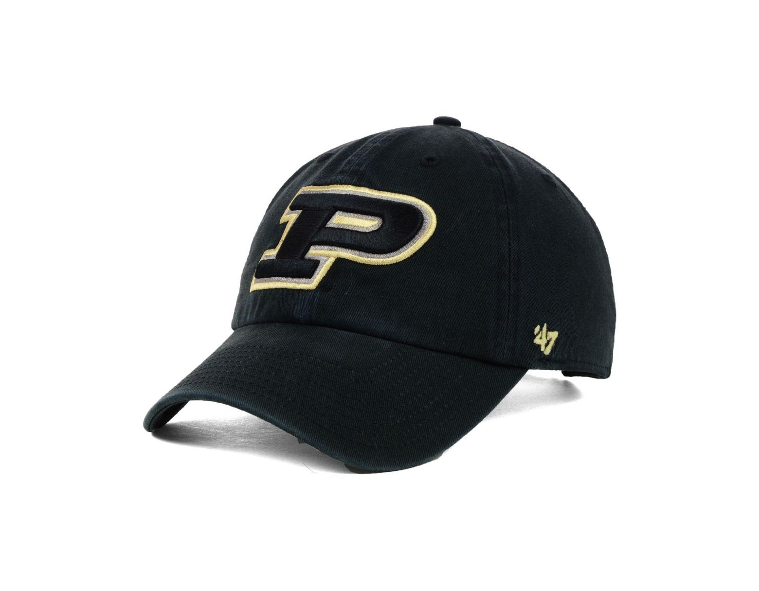 100% authentic bb24a 53c5f 47 Brand Purdue Boilermakers Ncaa Clean-up Cap in Black for Men - Lyst