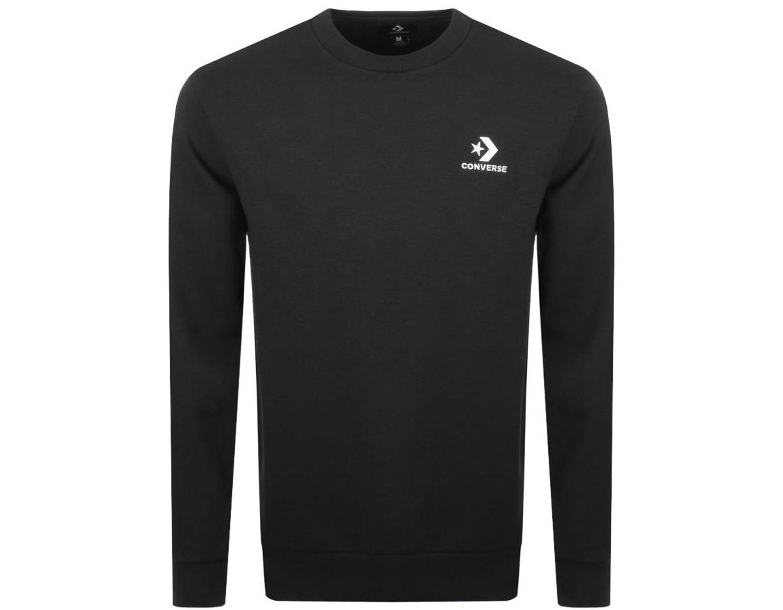 50fcbaba58188 Men's Black Star Chevron Logo Sweatshirt Balck