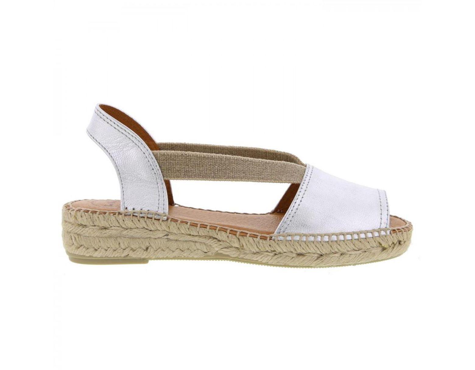 b2b3b8425e3 Women's Metallic Etna Leather Slingback Espadrille Sandals Shoes
