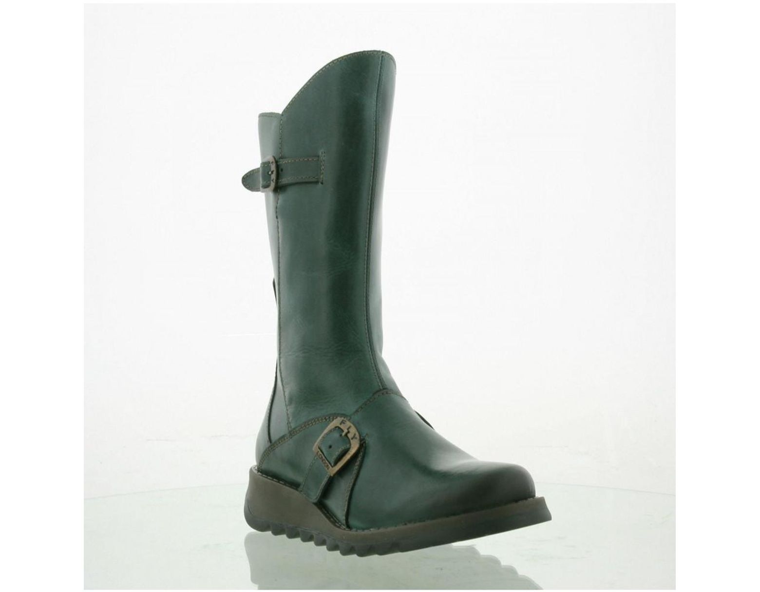 5ad02267432 Women's Green Mes 2 Wedge Zip Up Boots