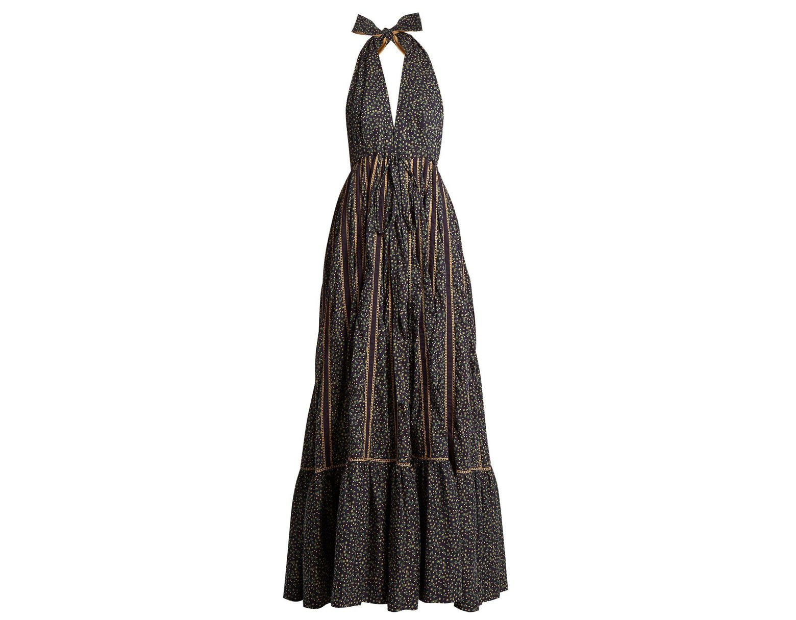 50c540d578b Women's Rooftop Runway Cotton Halterneck Maxi Dress