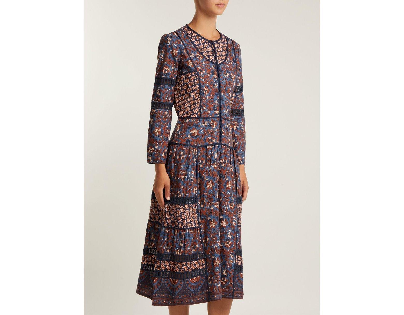 b685342efafb49 Sea Gemma Cotton Peasant Dress in Blue - Save 33% - Lyst