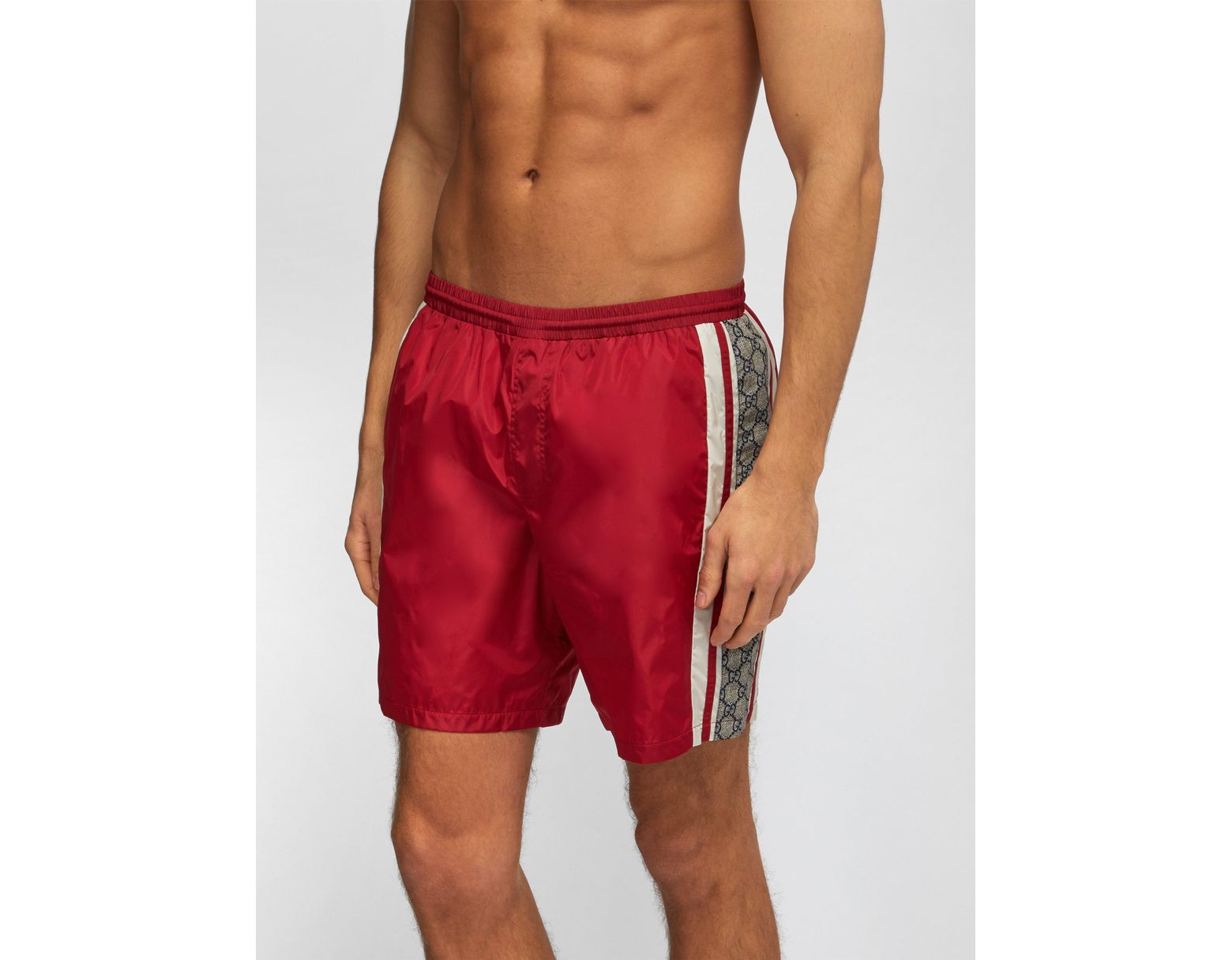 50d5a55f Gucci Red GG Swim Shorts for Men - Save 6% - Lyst