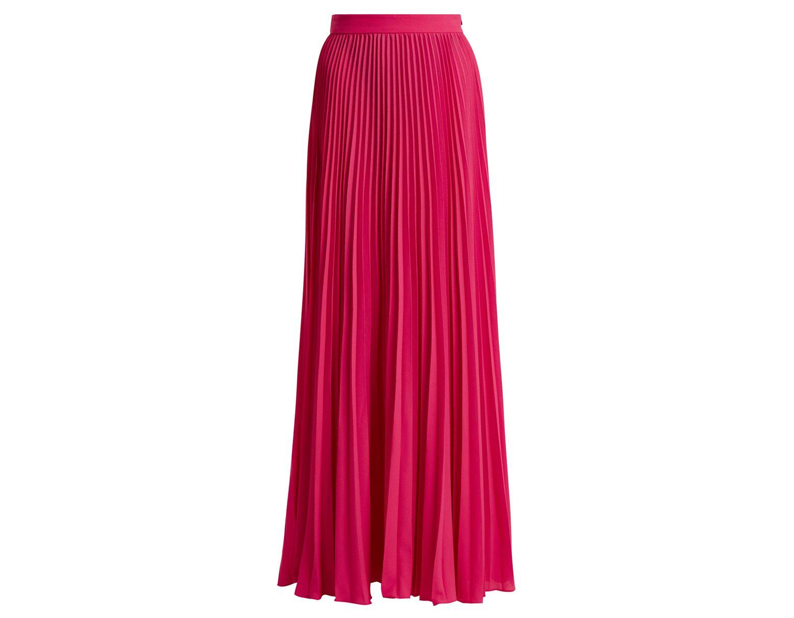 Rose Le Jupe Coloris Femme Longue En Plissée Fleur De Soie ZwuTPXlOki