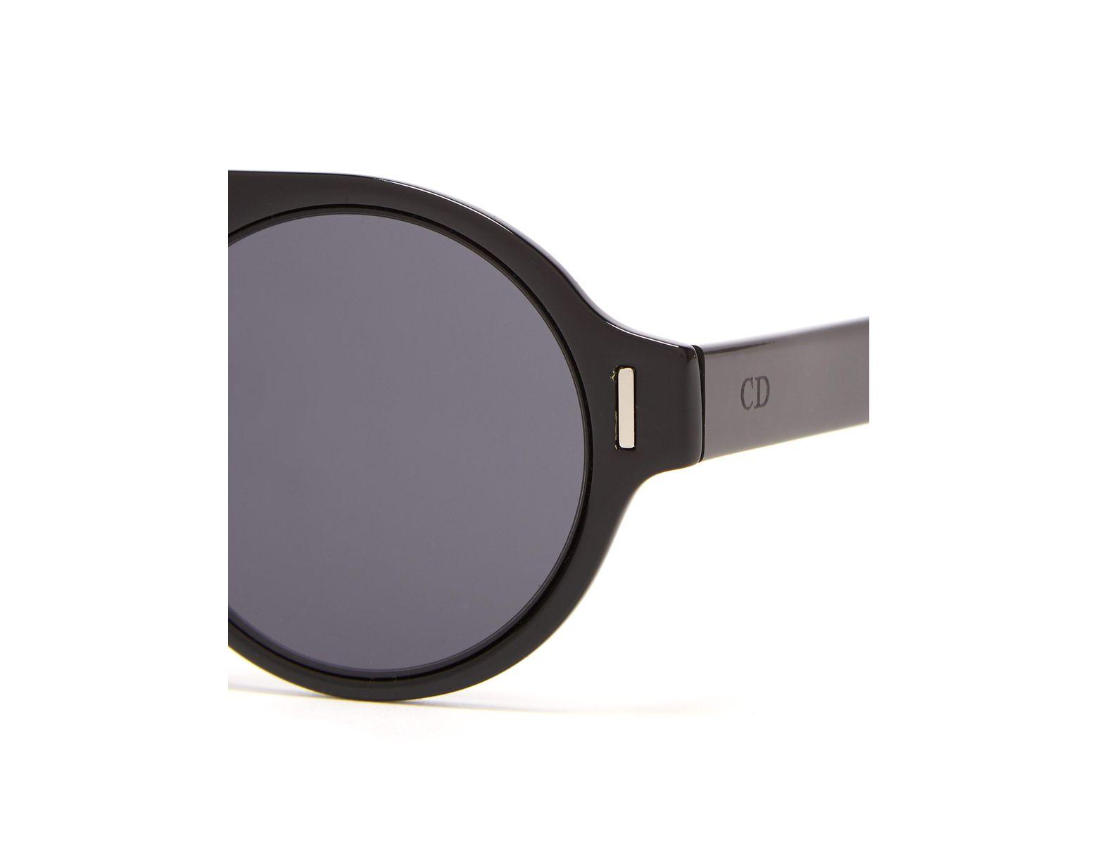 962f94c614ce8 Lunettes de soleil rondes en acétate DiorFraction2 Dior Homme pour homme en  coloris Noir - Lyst