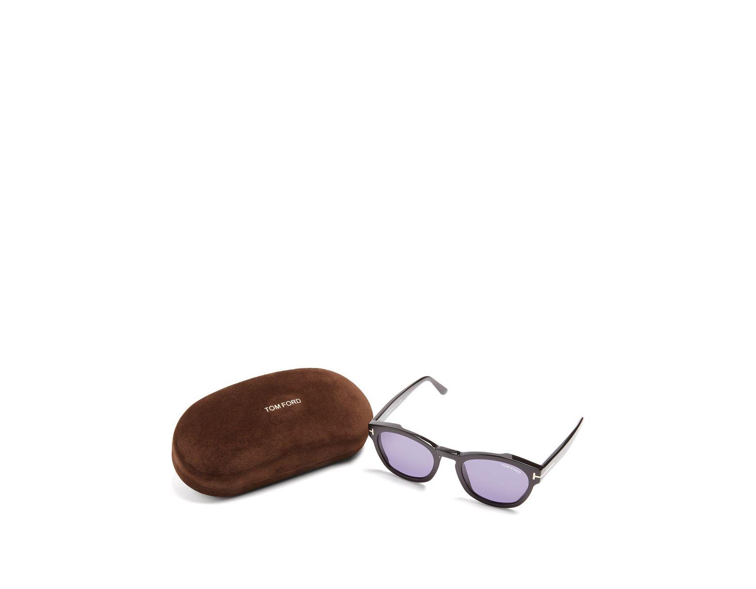a9b63f51fa Tom Ford Bryan Square Frame Sunglasses in Black for Men - Lyst
