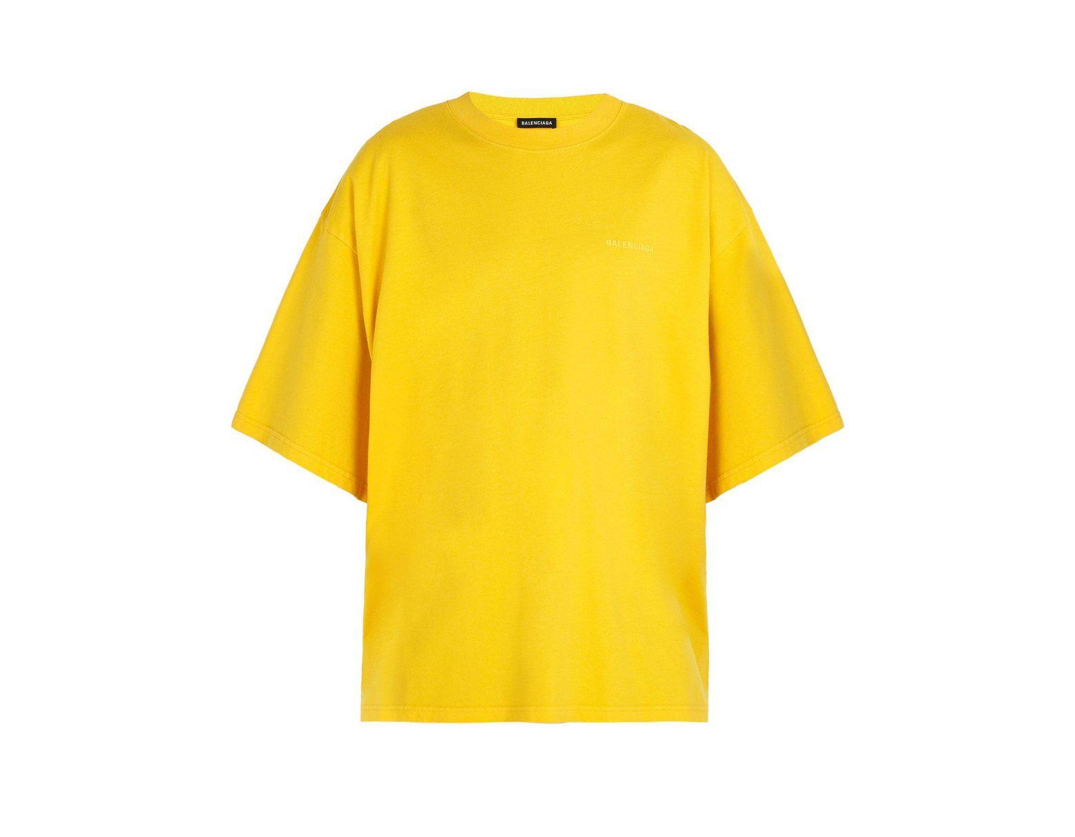 2f464d44 Balenciaga Self Help Print Cotton T Shirt in Yellow for Men - Lyst