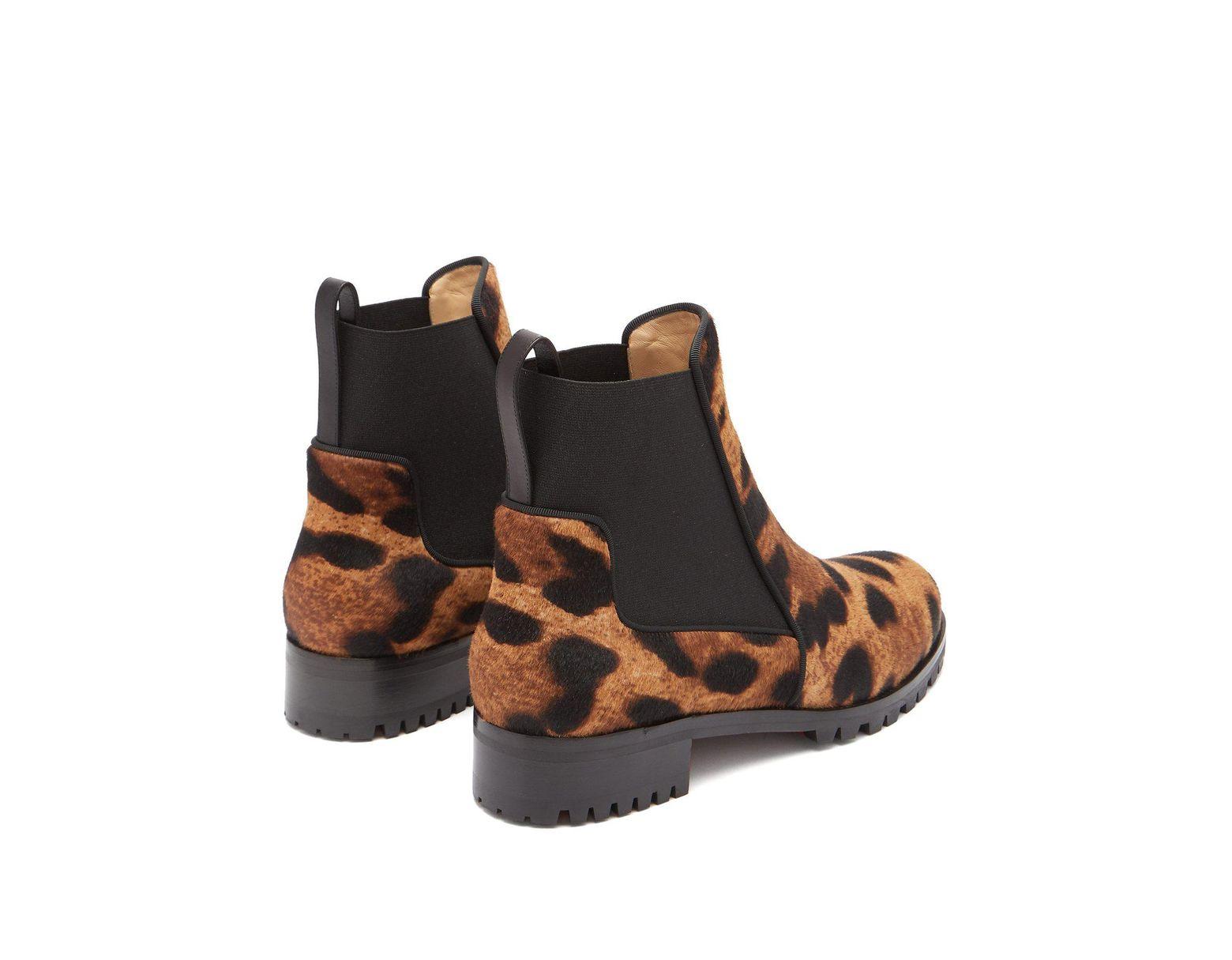 0c813d25c89 Women's Brown Marchacroche Leopard Print Calf Hair Ankle Boots