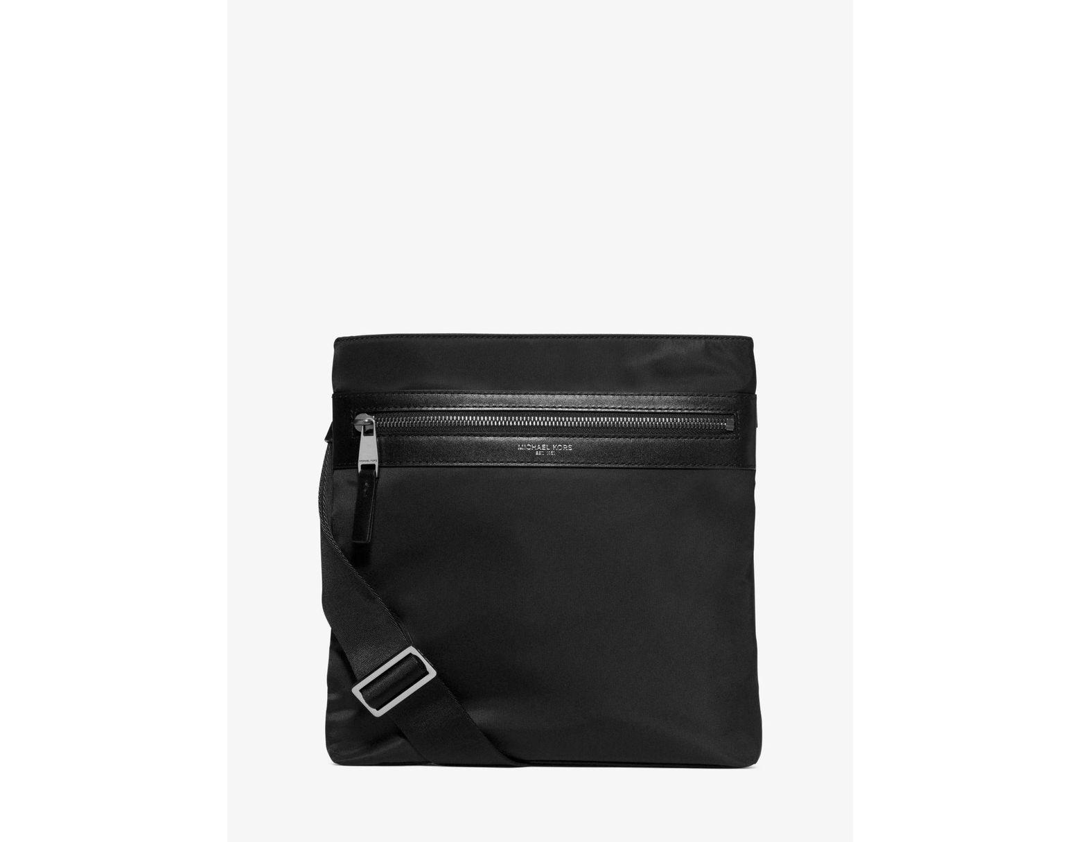 f9921fe568ef Michael Kors Kent Small Nylon Crossbody in Black for Men - Lyst