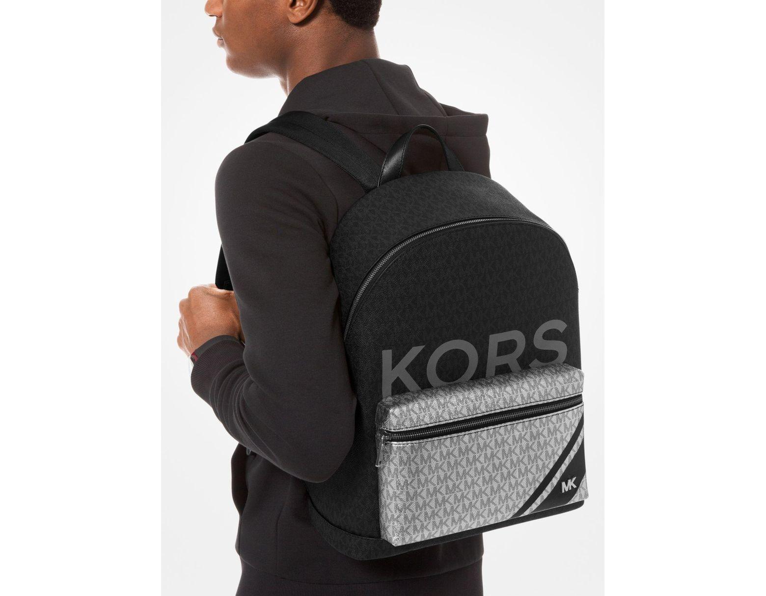 604d8fe32d5a41 Michael Kors Jet Set Color-block Logo Backpack in Black for Men - Lyst