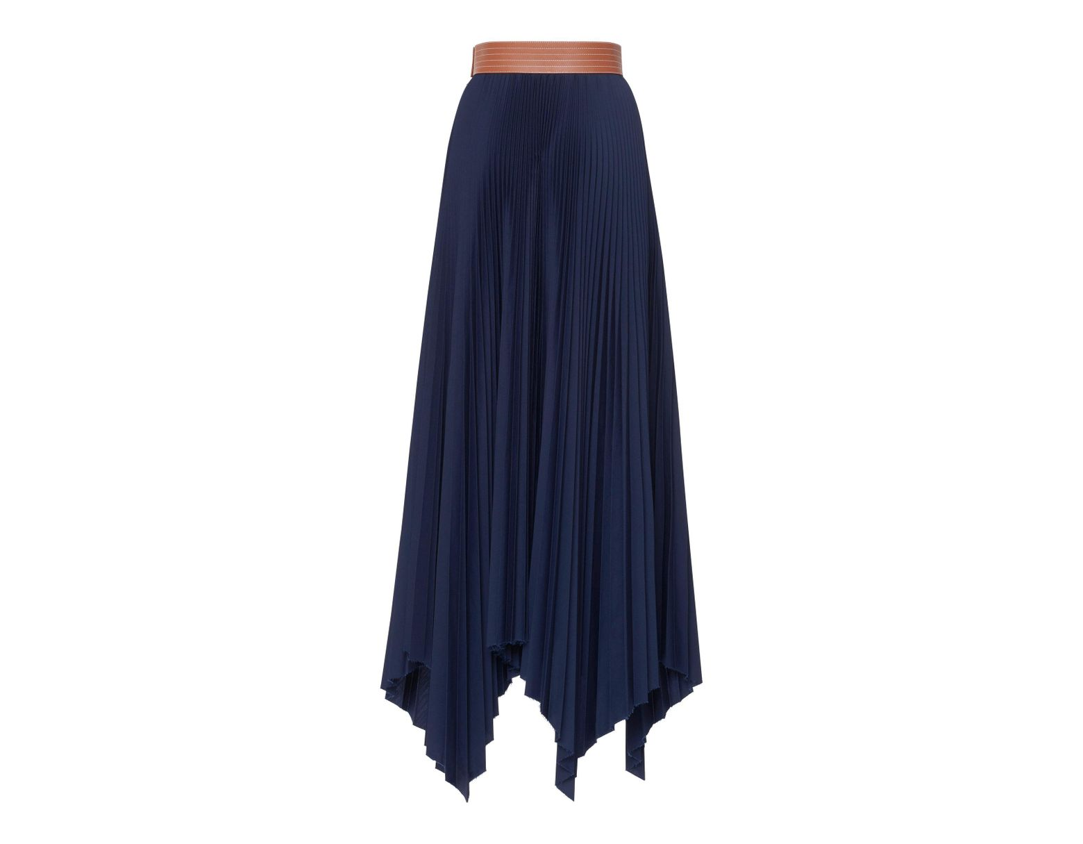 d26c94e24c56 Loewe Pleated Maxi Skirt in Blue - Save 75% - Lyst