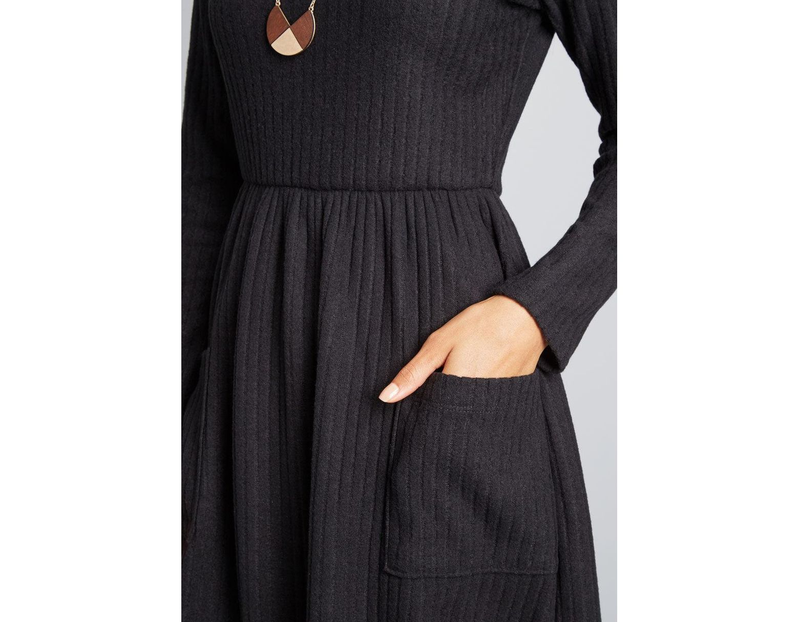 029806a65a6 Lyst - ModCloth Pleased To Be Me Sweater Dress in Black