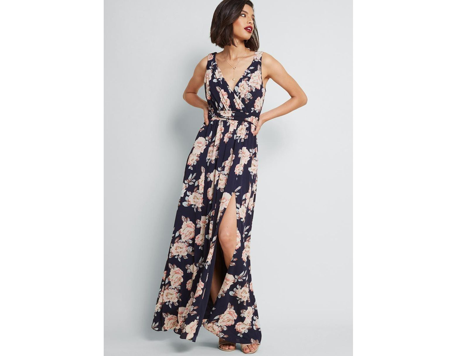 af698abc9 ModCloth Embracing Grace Maxi Dress in Blue - Lyst