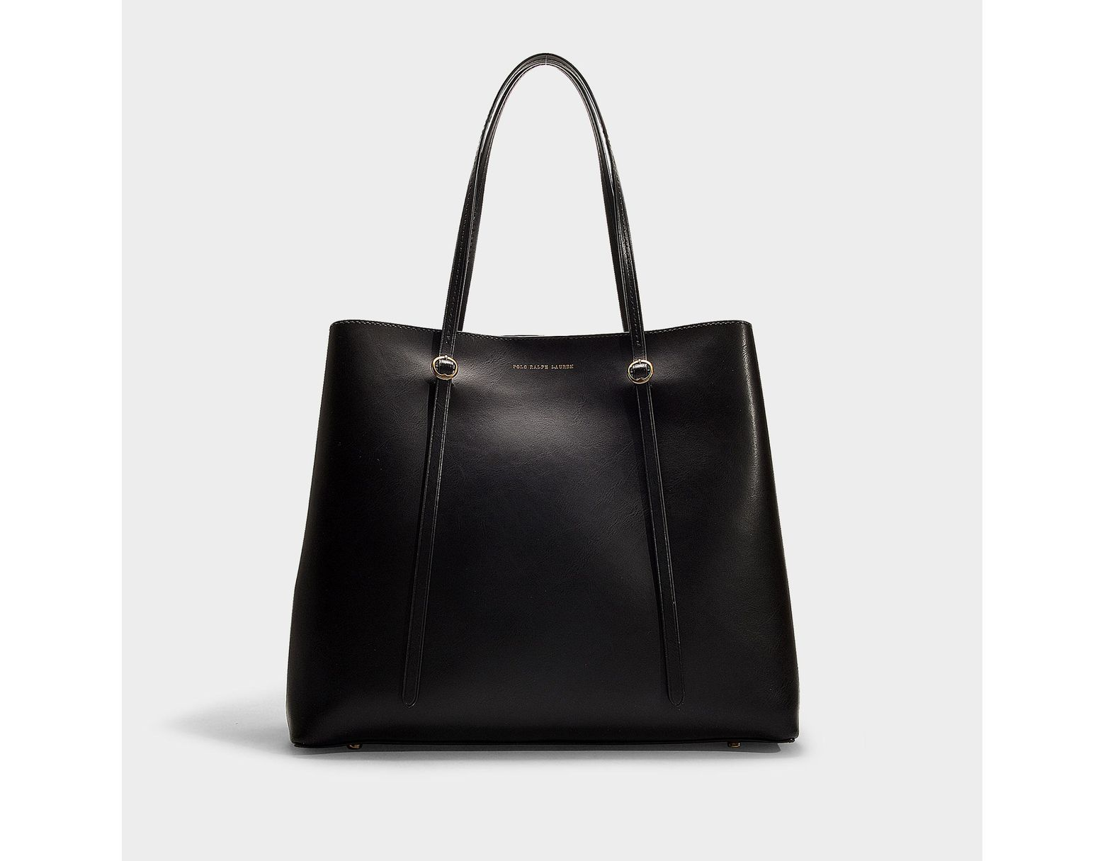 15822b598240 Polo Ralph Lauren Leather Lennox Tote in Black - Save 73% - Lyst