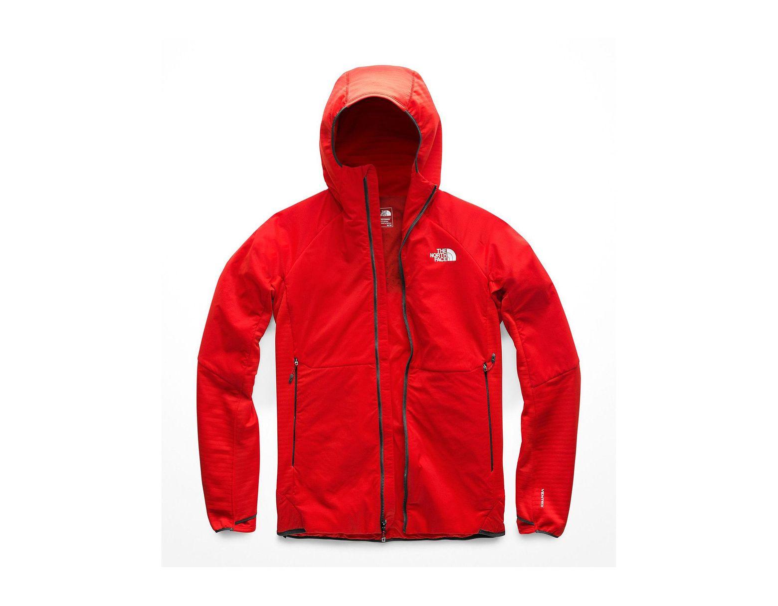 48827a9ba Men's Red Ventrix Lt Fleece Hybrid Hoodie