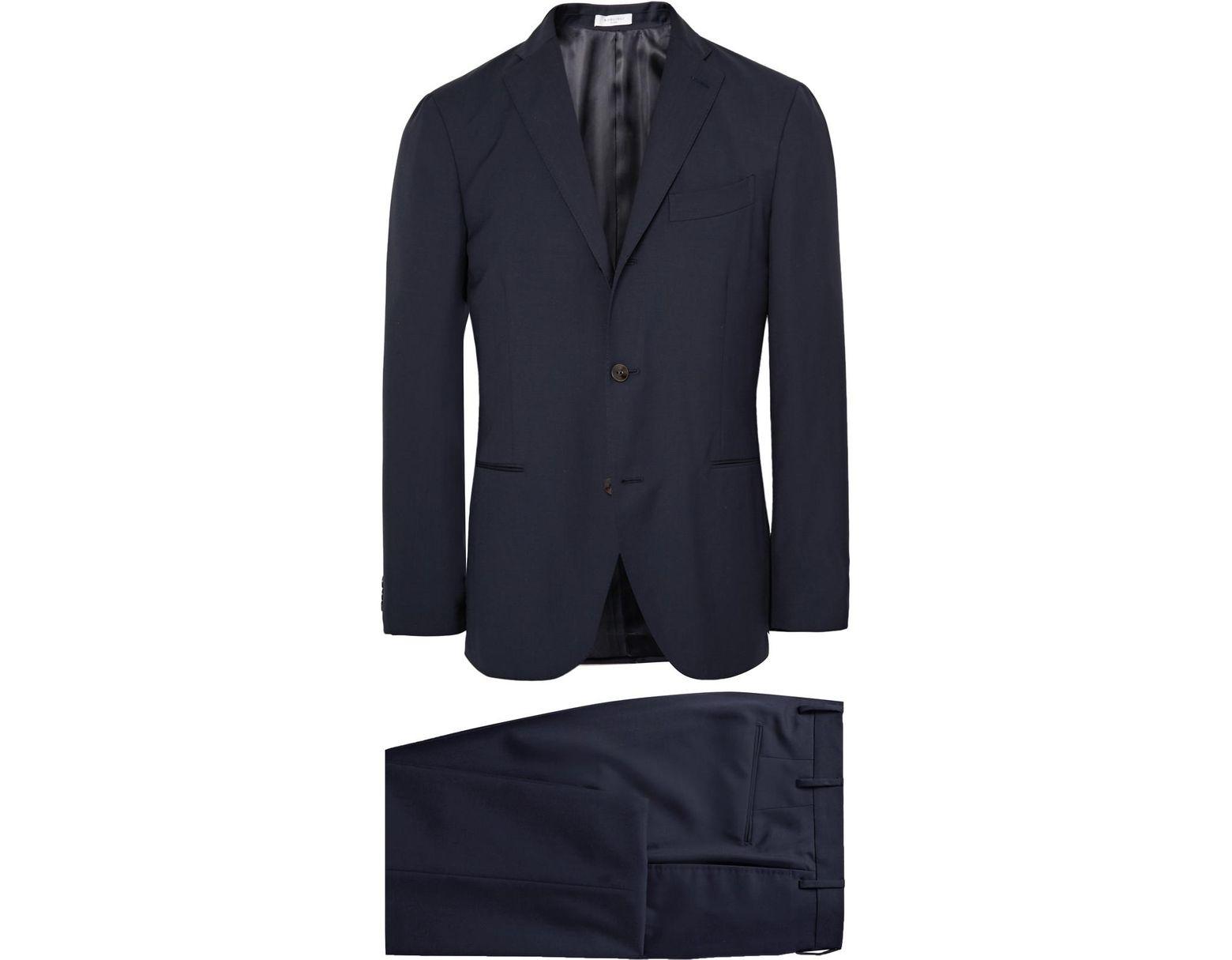 8b02708888 Men's Blue Dover Slim-fit Virgin Wool Suit