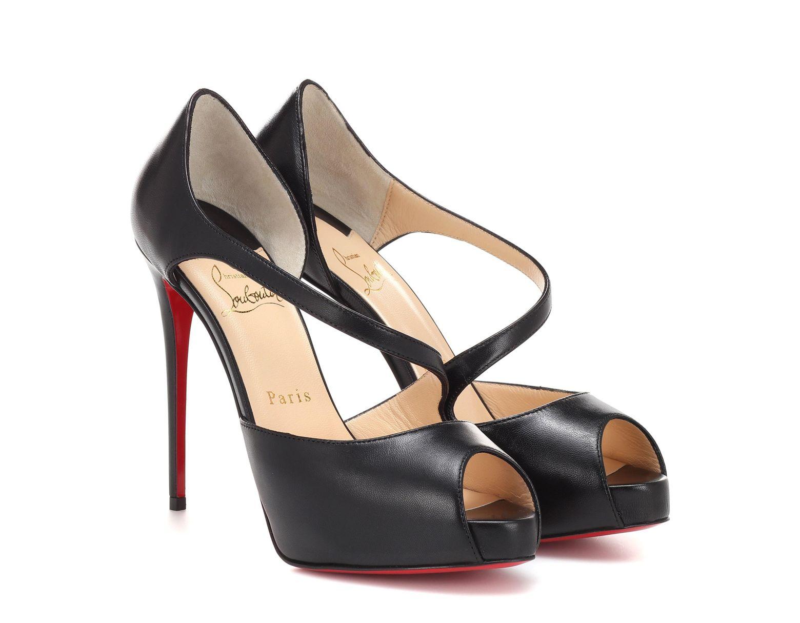 910a3b90c2d Women's Black Catchy Two 120 Peep-toe Pumps