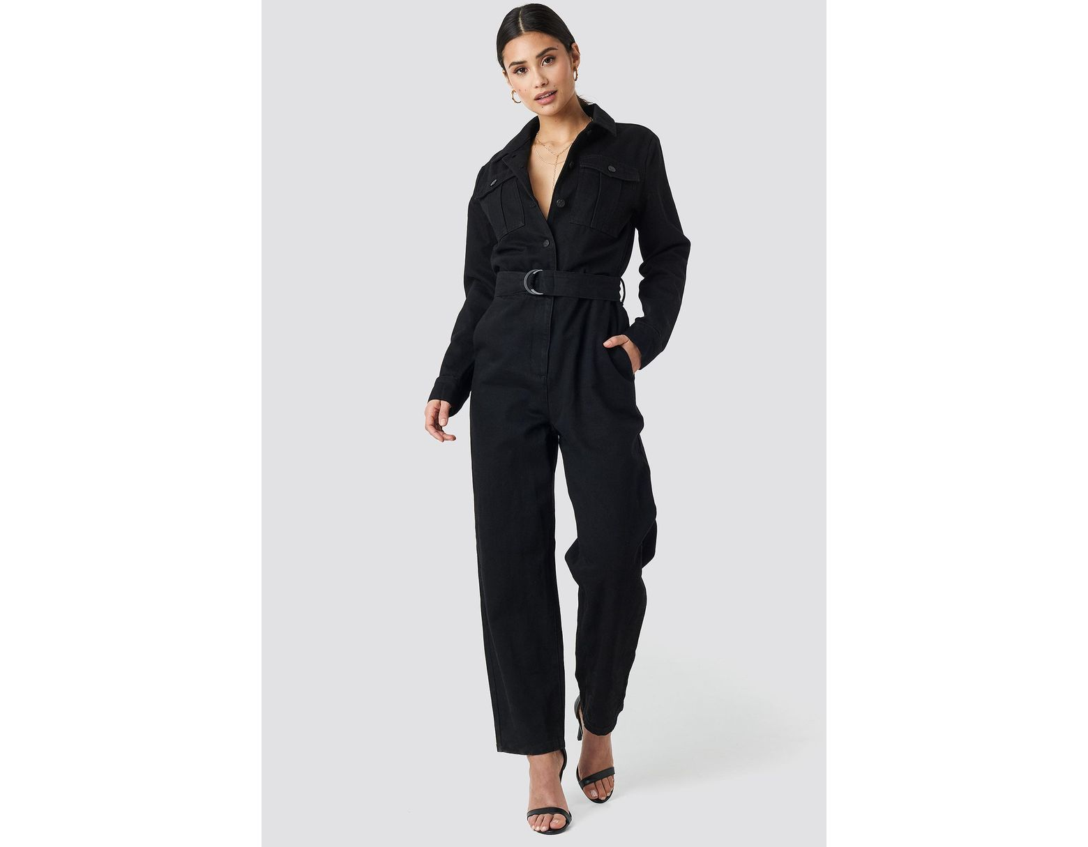 cd084e9dc5 Women's Belted Cargo Jumpsuit Black