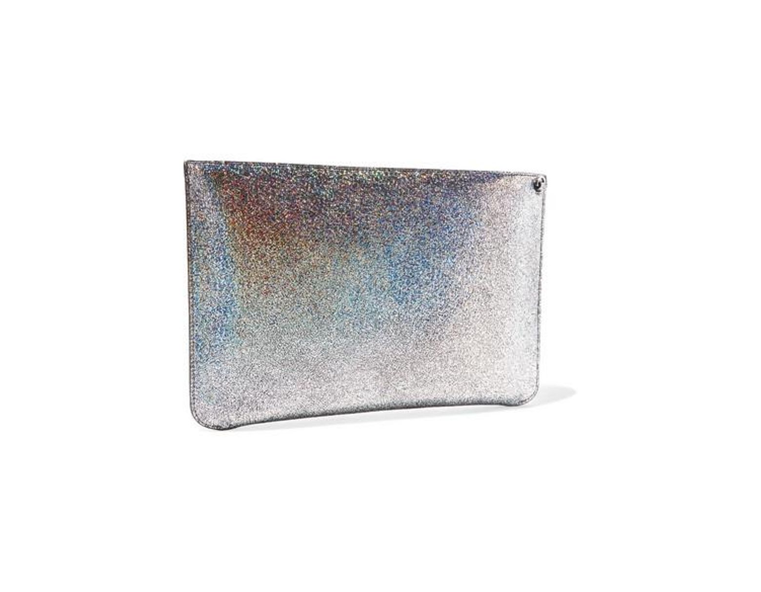 876d4bf7c83 Women's Metallic Loubiclutch Spiked Glittered Leather Pouch