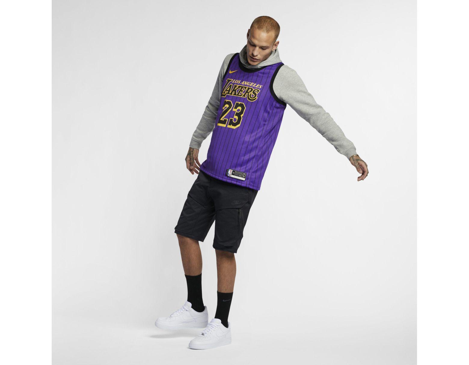 super popular a785d 5b72b Nike Lebron James Nba City Edition Swingman Jersey in Purple ...