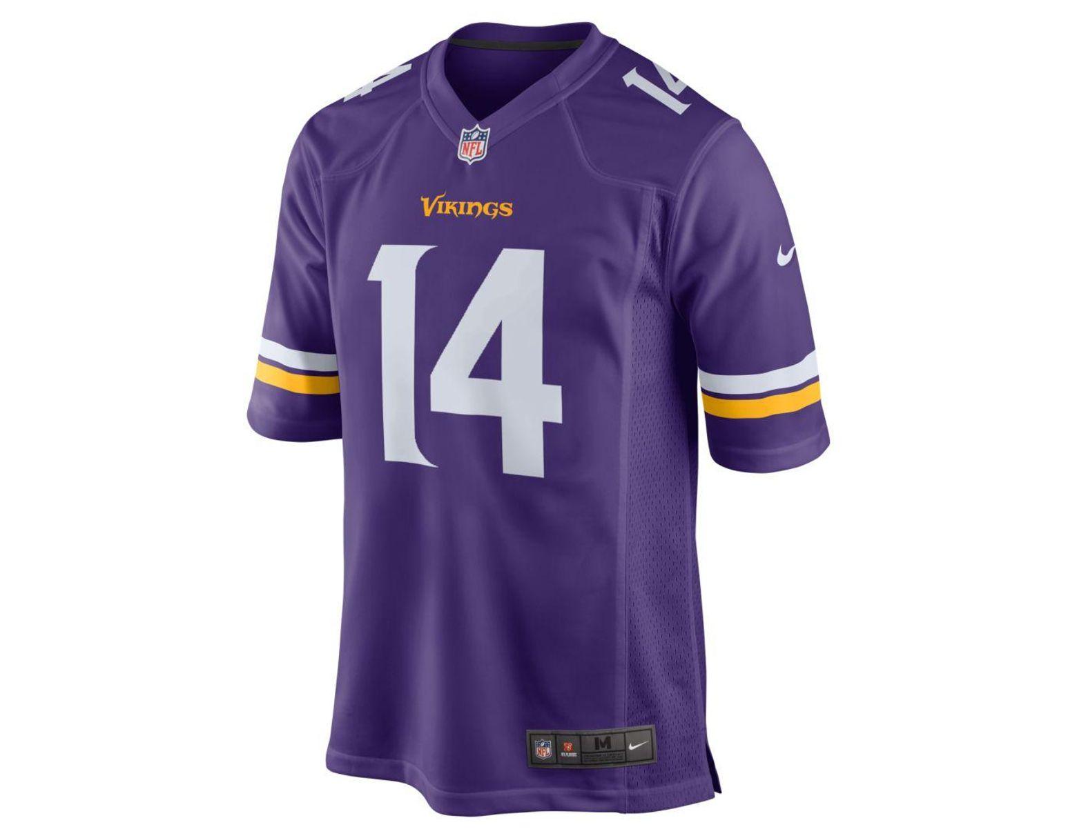 separation shoes e5cd2 0aa0b Men's Purple Nfl Minnesota Vikings (stefon Diggs) Game Football Jersey