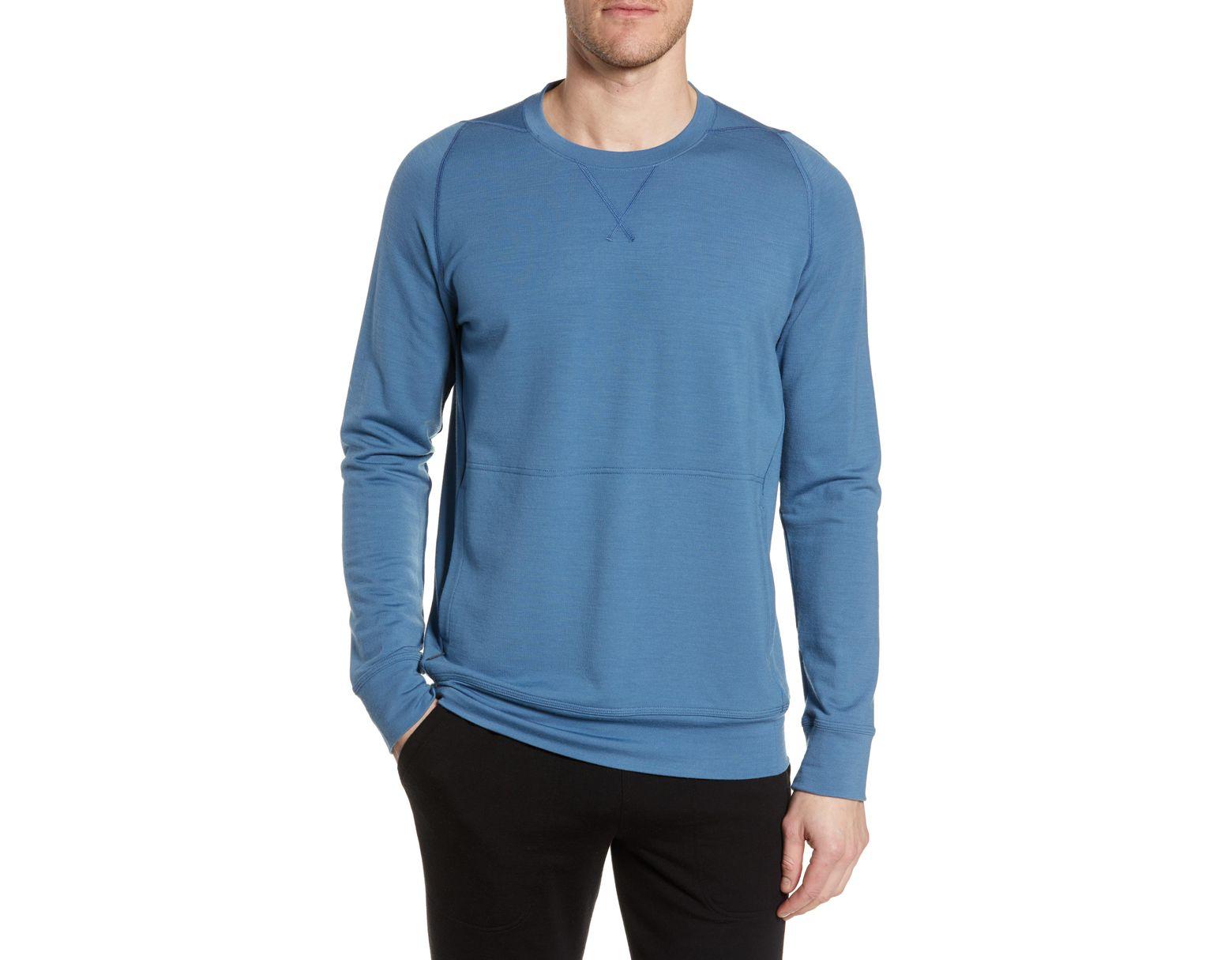 db42870e29 Icebreaker Shifter Merino Wool Blend Crewneck Sweater in Blue for Men - Lyst
