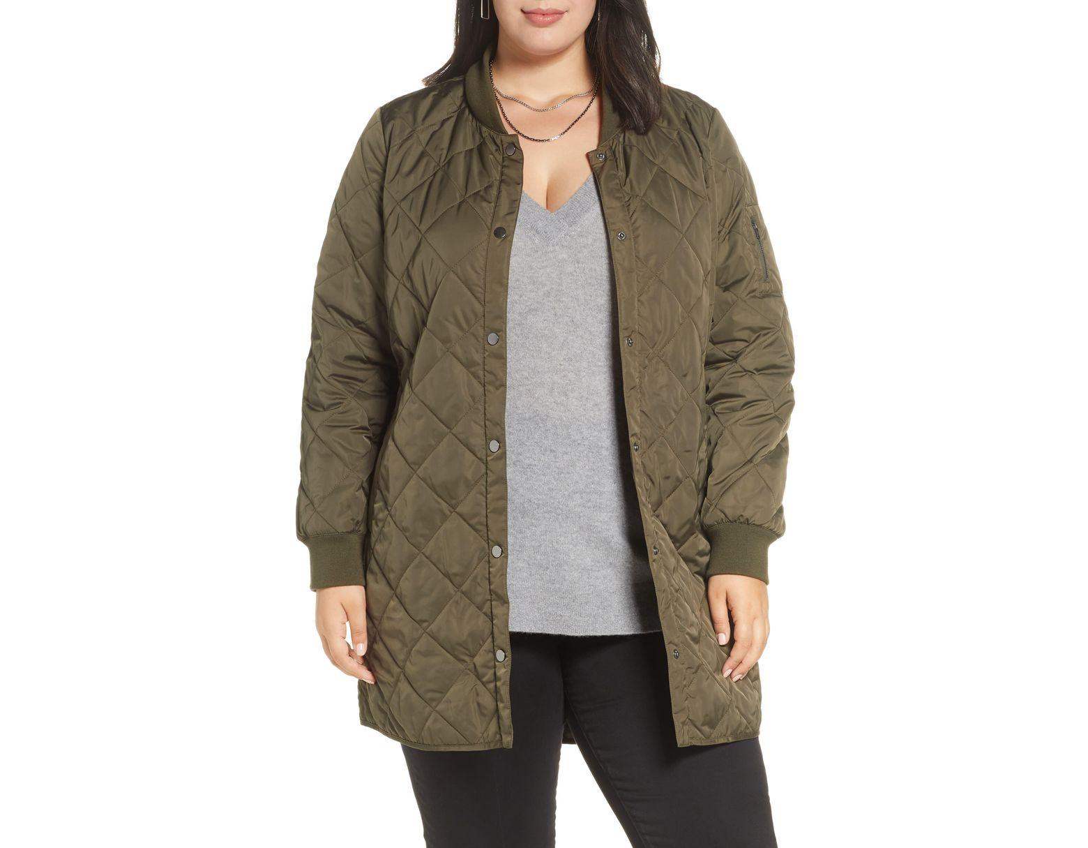 de9975cb4 Women's Green Halogen Quilted Bomber Coat