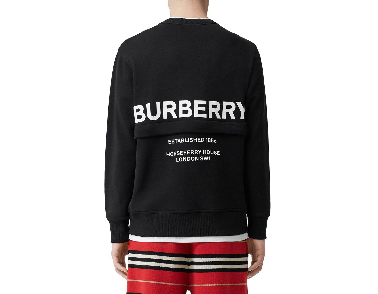 81c3eb7870b Burberry Acklow Horseferry Print Zip Pocket Sweatshirt in Black for Men -  Lyst