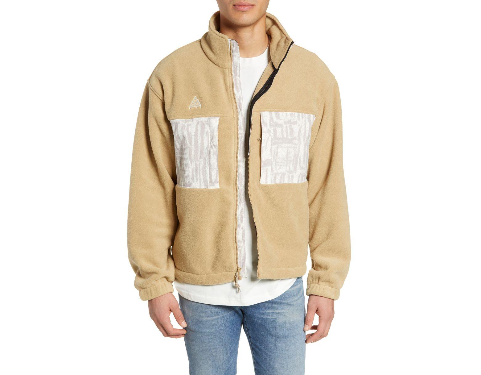 f03377a75f Nike Acg Men's Fleece Jacket in Natural for Men - Lyst