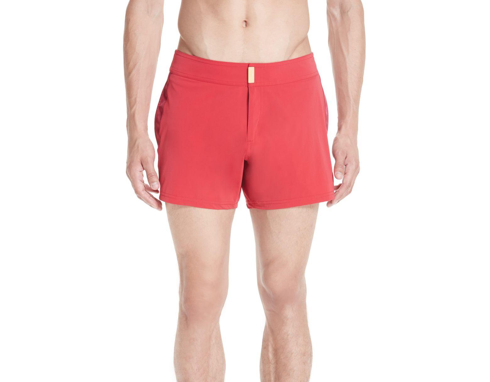 4a32c0c1fa Men's Red Smoking Tuxedo Swim Trunks