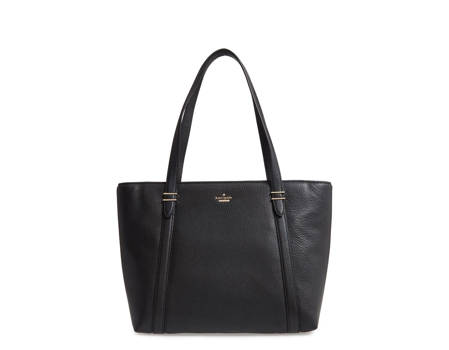 f91308dc1b4b Kate Spade Oakwood Street Chandra Leather Tote in Black - Save 64% - Lyst