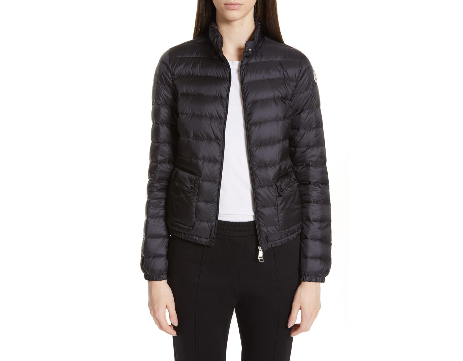 Women's Black Lans Quilted Lightweight Down Jacket