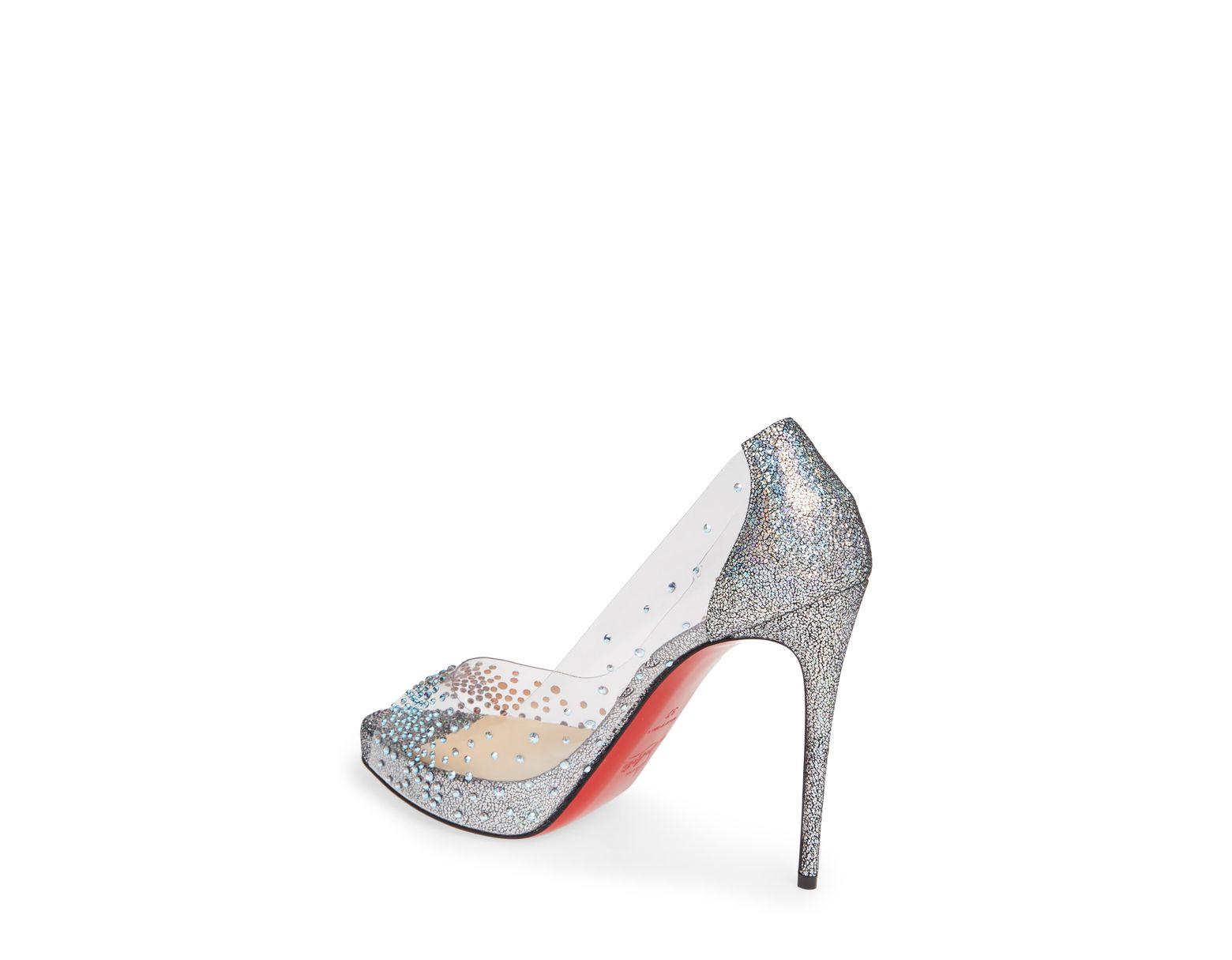 c751f6f7da8 Women's Metallic Very Strass Embellished Peep Toe Pump