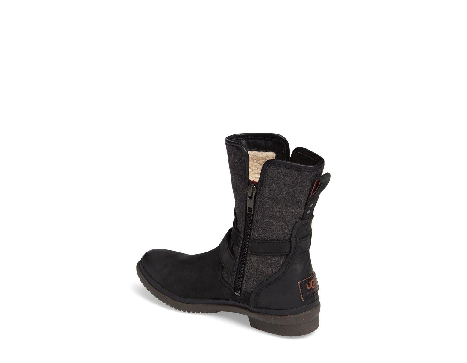 5f5b71435b1 Ugg Black Ugg Simmens Waterproof Leather Boot